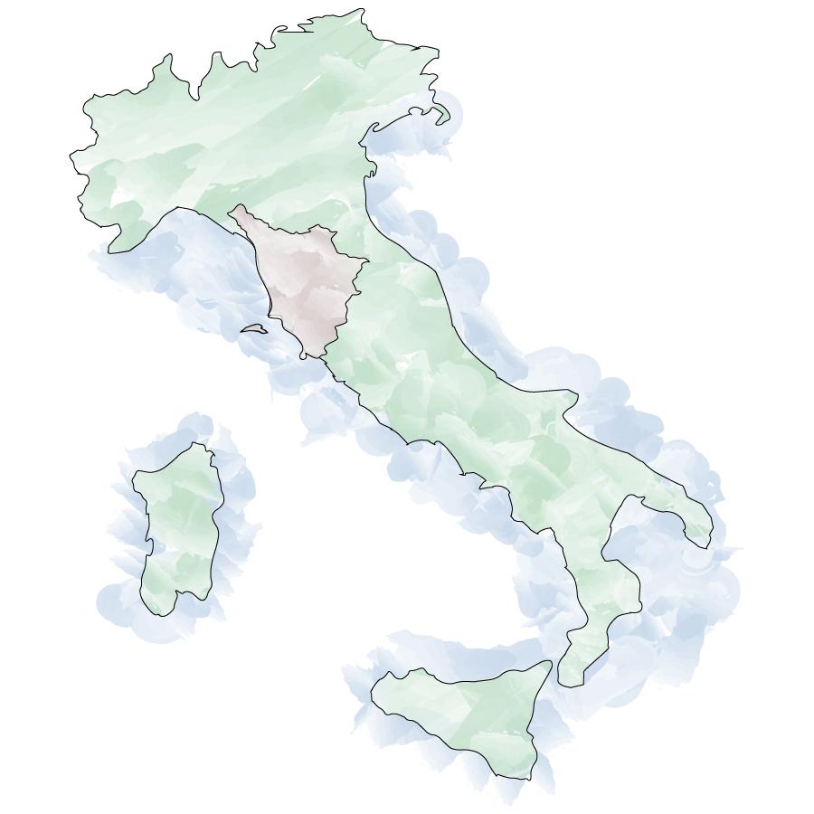 Italy - Toscana map